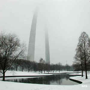 Winter at the Gateway Arch