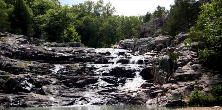 A view of Rocky Falls