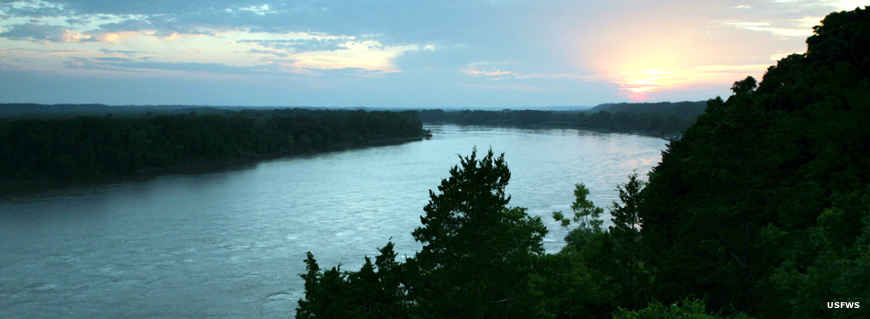 The Missouri River in Big Muddy National Fish and Wildlife Refuge