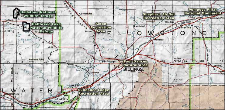 Billings area map