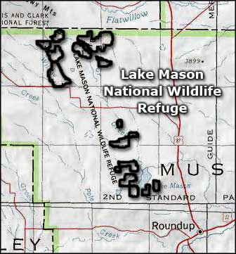 Lake Mason National Wildlife Refuge area map