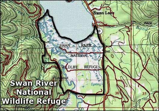 Swan River National Wildlife Refuge map