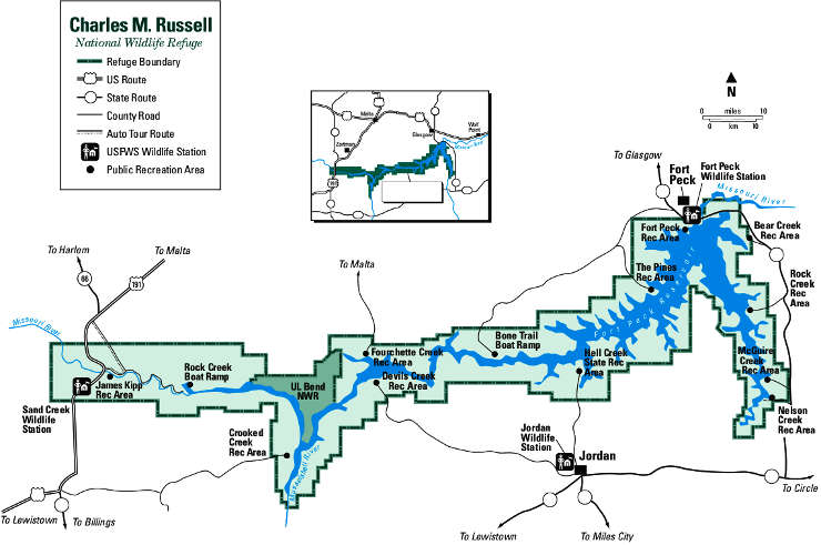 Map of Charles M. Russell NWR