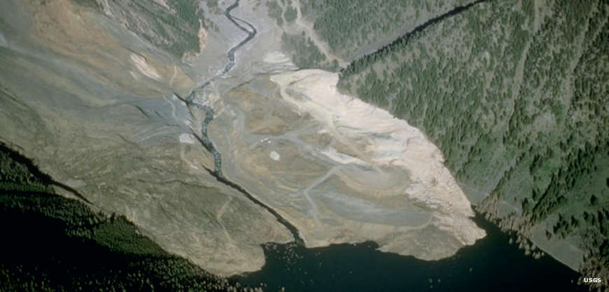 The landslide that created Quake Lake