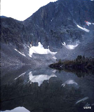 Cave Lake in the Crazy Mountains