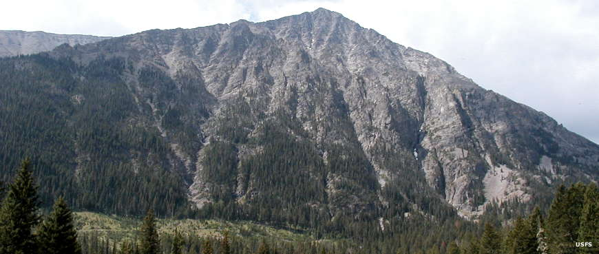 One of the mountains in view at Half Moon Trailhead