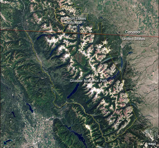 Glacier National Park from space