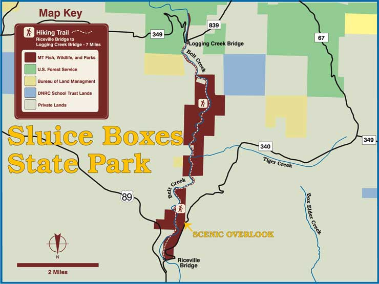 Map of Sluice Boxes State Park