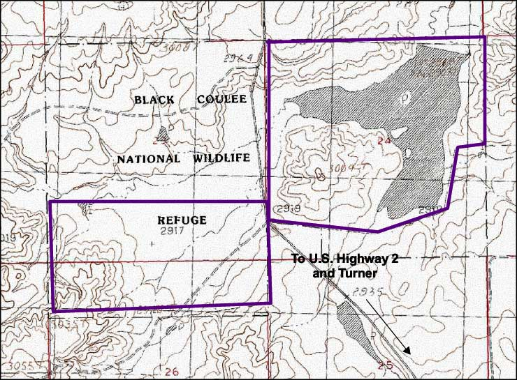 Black Coulee National Wildlife Refuge map