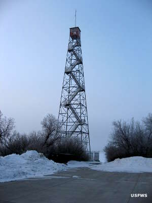 Observation tower at Medicine Lake National Wildlife Refuge