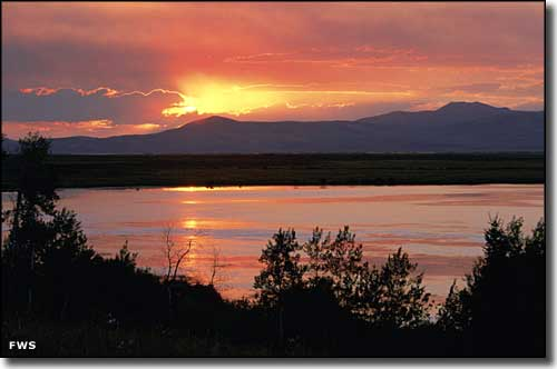 Sunset at Red Rock Lakes National Wildlife Refuge