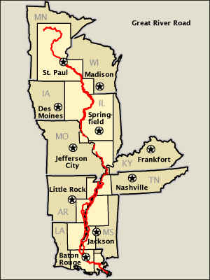 Great River Road map