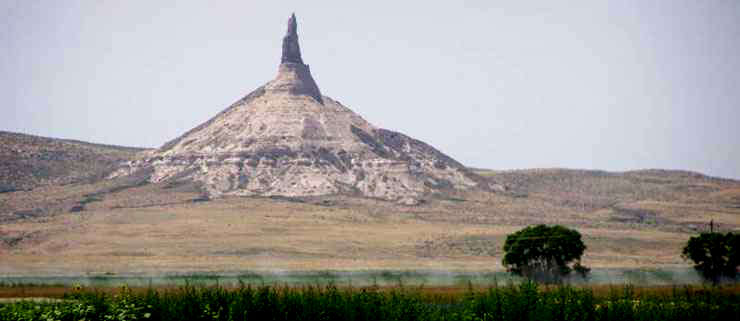 Chimney Rock, along the trunk route of the California, Oregon, Pony Express and Mormon Pioneer National Trails