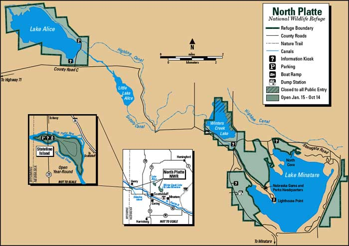 Map of North Platte National Wildlife Refuge