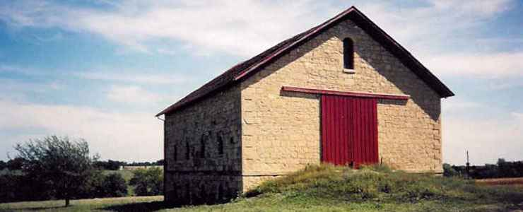A historic stone barn found along the Heritage Highway