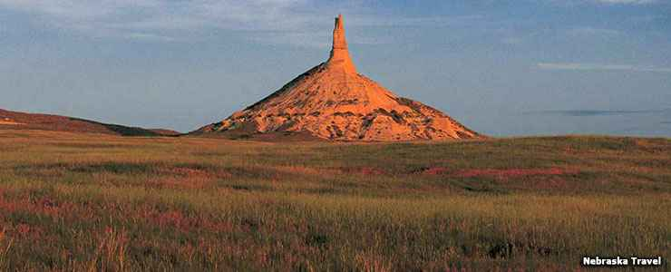 Chimney Rock National Historic Site, along the Western Trails Scenic and Historic Byway