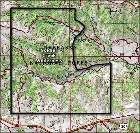 Map of Soldier Creek Wilderness