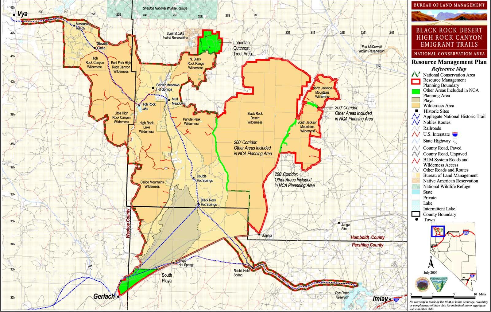 Black Rock Desert High Rock Canyon Emigrant Trails National Conservation Area Nevada Blm Sites