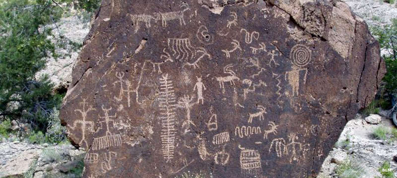 Petroglyphs in Big Rocks Wilderness