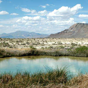 A natural hot springs in Black Rock Desert Wilderness