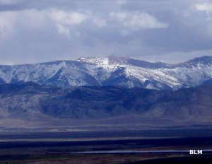 A long distance view of Bristlecone Wilderness