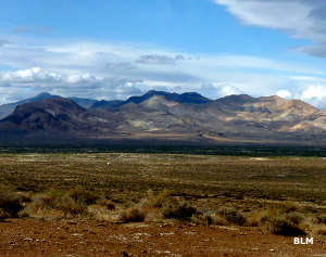 A view of the Calico Mountains from across the valley to the east