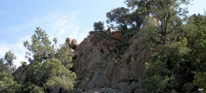 A typical rock formation in Highland Ridge Wilderness