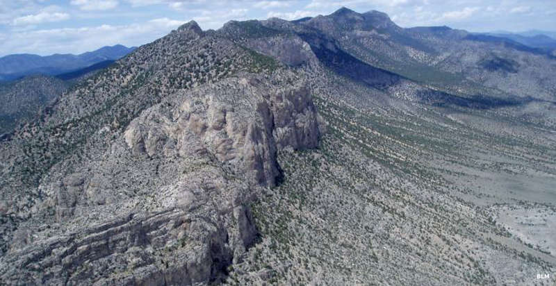 An aerial view of Highland Ridge Wilderness