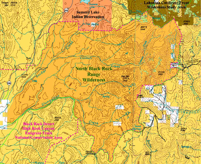 North Black Rock Range Wilderness map