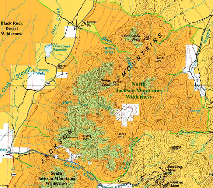 North Jackson Mountains Wilderness map