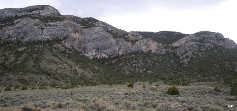 Sandstone bluffs rising in Mount Moriah Wilderness