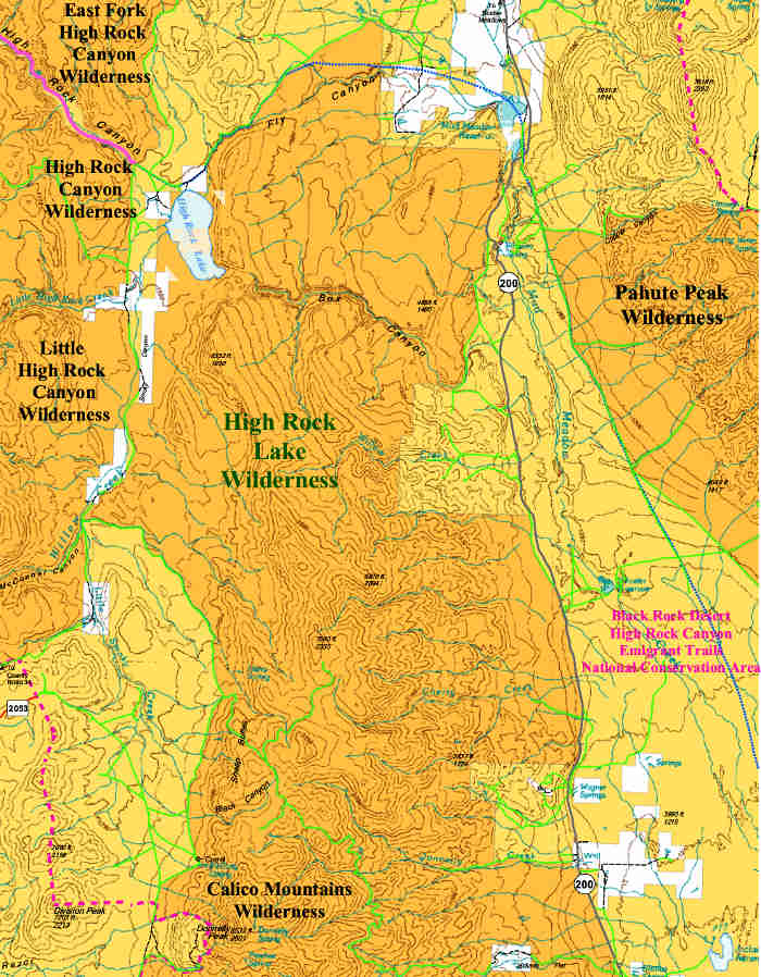 High Rock Lake Wilderness map