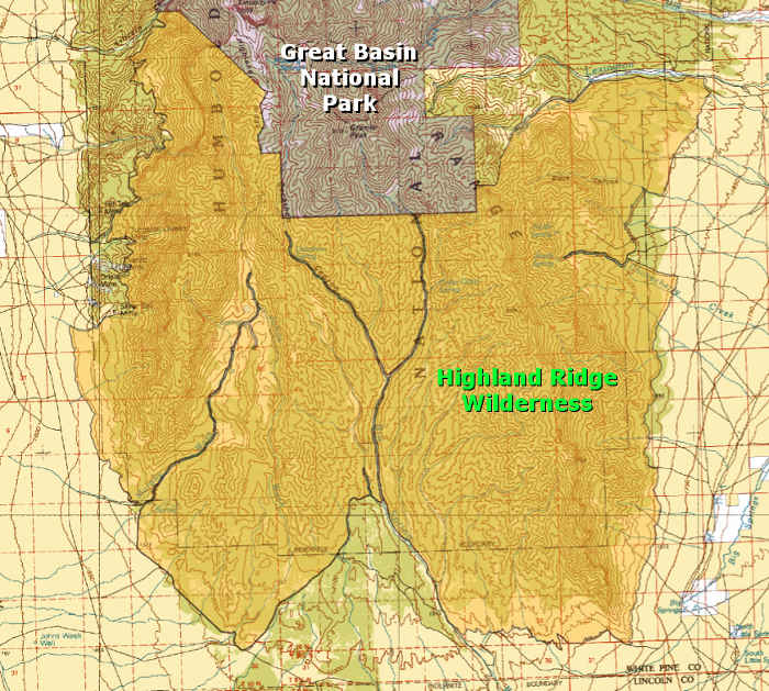 Highland Ridge Wilderness map