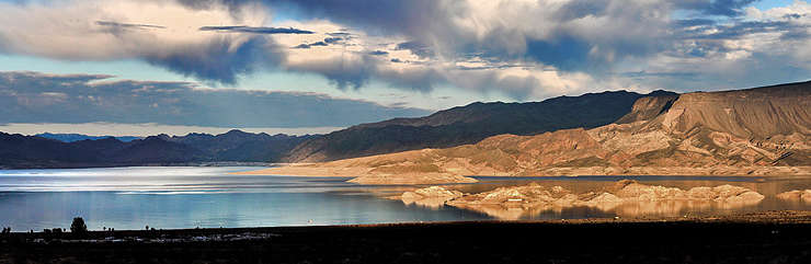 A view of Lake Mead in the Boulder Basin area