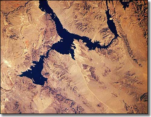 Lake Mead from space