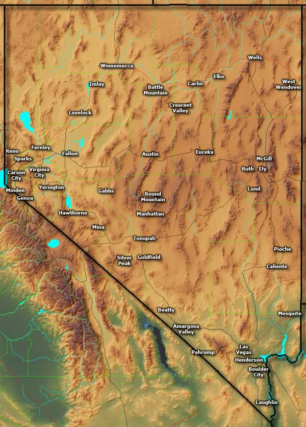 City Of Mesquite Nv >> Towns and Cities in Nevada | The Sights and Sites of America