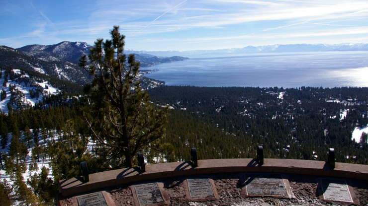 Lake Tahoe from the Mt. Rose Scenic Byway Overlook