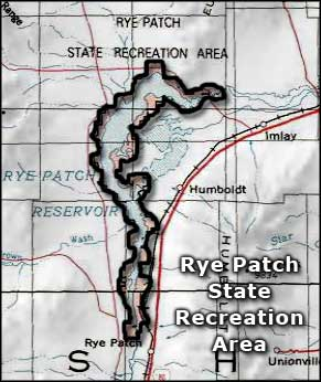 Rye Patch State Recreation Area map