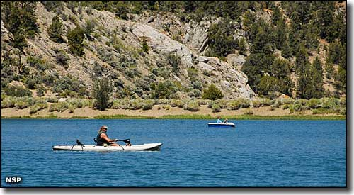 Boating on Cave Lake