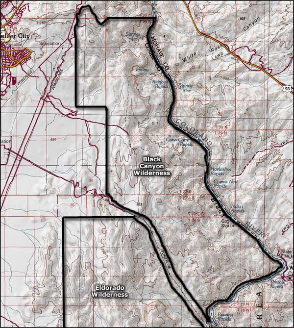Black Canyon Wilderness map