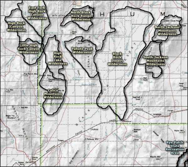 Black Rock Desert area map