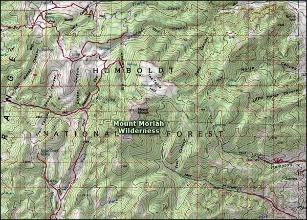 Mt. Moriah Wilderness map