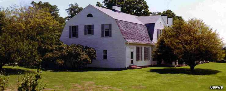 The main home at John Hay National Wildlife Refuge