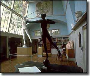 Sculptures in the house at Saint-Gaudens National Historic Site