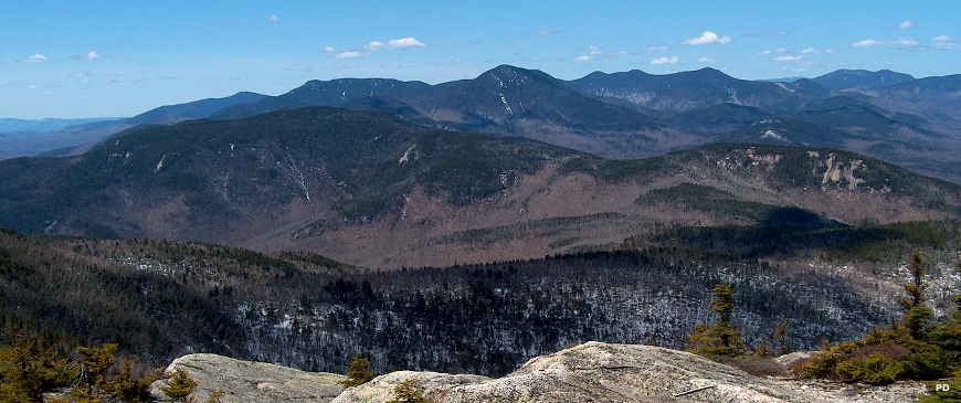 A view of the Sandwich Range