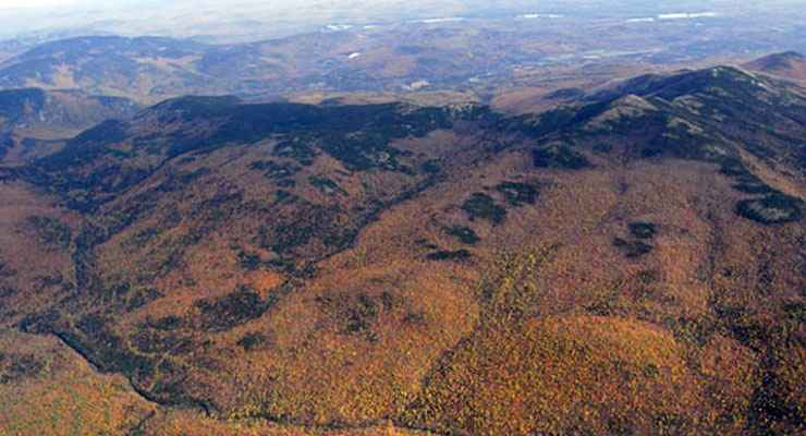 An aerial view of Wild River Wilderness
