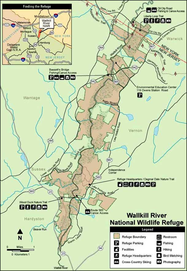 Map of Wallkill River National Wildlife Refuge