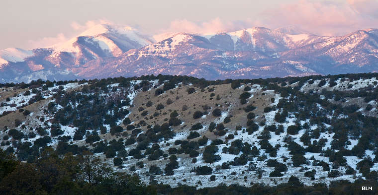 A winter view of the Sierra Blanca