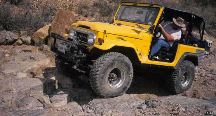 Four-wheeling in the Robledo Mountains OHV Trail System