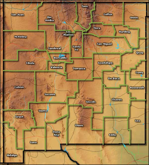 New Mexico by Counties New Mexico Towns and Places